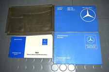 1981 Mercedes Benz SL380 SL 380 SL SLC Class Owners Manual - SET!!