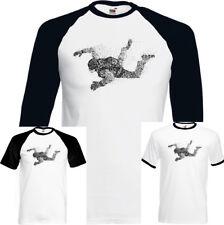 Abstracto Paracaidista Camiseta Hombre Paracaídas Skydive 1 2 3 To