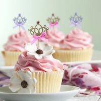 10 Princess Corona de torta Decoración de la torta de cumpleaños de la boda