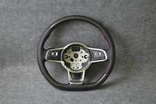 PELLE CARBONIO-Volante Adatto per VW Scirocco 3 III DSG R R-LINE SPORT (08-17)