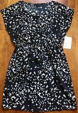 One Clothing Sexy Black Blouson Mini Dress, Butterflies print, Size Small, NWT