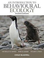 An Introduction To Comportementales Ecology 4th Edition Par West, Stuart Krebs ,