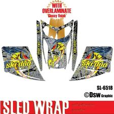 SLED WRAP DECAL STICKER GRAPHICS KIT FOR SKI-DOO REV MXZ SNOWMOBILE 03-07 SL6518
