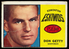 1964 TOPPS CFL FOOTBALL #24 DON GETTY VG EDMONTON ESKIMOS WESTERN ONTARIO UNIV