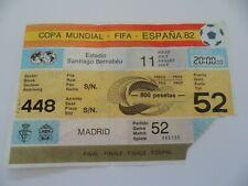 WM Finale 1982 Deutschland-Italien Ticket  World Cup FIFA #070