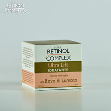 Crema idratante alla bava di lumaca viso antirughe ultra lift retinol complex