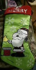 """Peanuts Snoopy Christmas Stocking,  """"BE MERRY"""" NEW SUPER CUTE"""