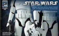 SDCC SIDESHOW Hot Toys STAR WARS Han Solo & Luke Skywalker STORMTROOPER DISGUISE