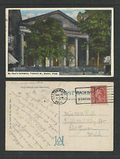 1926 ST PAULS CATHEDRAL TREMONT ST BOSTON MASS POSTCARD