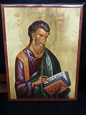Saint Matthew Apostle and Evangelist Greek Orthodox  Byzantine  Icon 20x26cm