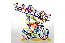 "Pop art Metal Bicycle Riders "" Ladder man "" sculpture  by DAVID GERSTEIN"