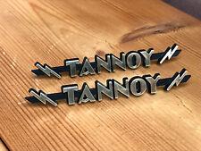 Pair size 2 TANNOY lightning badges badge logo emblem STOCK LOW - Grade C