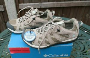 Ladies Columbia Trainers Redcrest Waterproof Walking Shoes Sand UK 6 New & Boxed