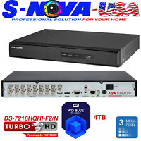Hikvision 16 Channel DVR 16CH DS-7216HQHI-F2/N  TVI-AHD-CVI + 2CH IP UP TO 3MP