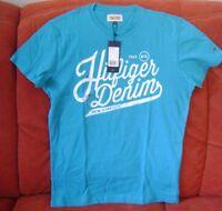 Hilfiger Denim Herren T-Shirt türkis  Gr. M  Original Neu mit Etikett!