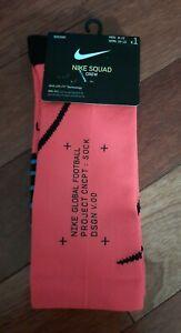 Nike Squad Crew Soccer Socks, Men's Shoe Size 8-12, Pink Crimson, SK0137-644