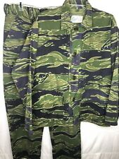 Vintage Chief Tiger Stripe Camouflage Jacket And Pants 1970's