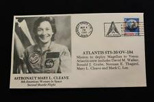 SPACE COVER 1989 SLOGAN CANCEL STS-30 SHUTTLE ATLANTIS ASTRONAUT MARY CLEAVE (42