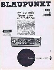 PUBLICITE ADVERTISING 114 1963 BLAUPUNKT auto-radio
