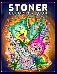 Stoner Coloring Book for Adults Calming Therapy Stress Relief