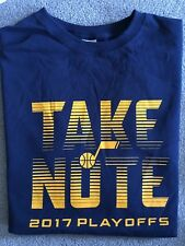Utah Jazz Playoffs Take Note Shirt. Giveaway at the game. Brand new. Never worn!