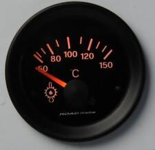 Manometro Strumento Road Retroilluminato Temperatura Olio°C c/SONDA Arancio