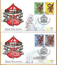 Vatikan 2013 FDC Satz Nr.1762 - 1765 SEDE VACANTE Vaticano Rücktritt Benedikt
