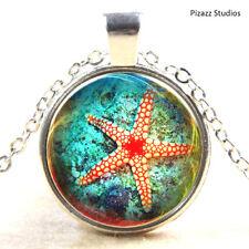 "Starfish Sea Star 19"" Pendant Necklace Beach Sea Life Silver Womens Jewelry NEW"