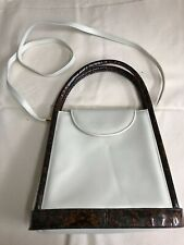 Stuart Weitzman White Tortoise Handbag