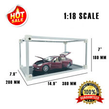1:18 Scale Model Car Display Case Acrylic Clear Box Dust Proof