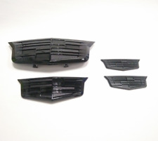 4pcs Black Front Fender Door Rear Emblems Kit Fit 2015-2017 Cadillac XTS XT5 CT6