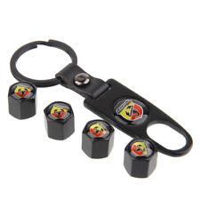 Car Tire Valve Dust Stems Air Caps Cover Emblem Keychain For Fiat ABARTH 500c SS