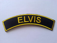 HEAVY METAL PUNK ROCK MUSIC SEW / IRON ON PATCH:- ELVIS (a) PATCH No. 0022