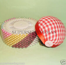 480  ASSORTED COLOR SEWING FAUX PEARL ROUND HEAD W/ PIN CUSHION CORSAGE  PINS