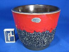 70´s Design Jopeko Fat Lava Keramik pottery  flowerpot / Blumen Übertopf  16 cm