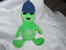 "Tampa Bay rays Plush Green Monster 15"" baseball hat alien man rally men mascot"