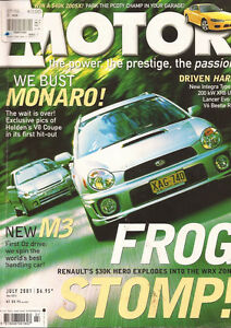 Motor Jul 01 E46 M3 Clio Sport Impreza WRX Beetle RSi Evo VI Integra Type R Cap