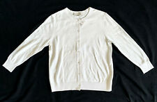 NWT Loft Women's White Round Neck Button Knit Cardigan Sweater XS S M L XL