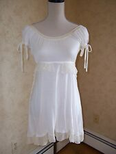 TUNIC BLOUSE TOP  BY  WITH LOVE YAG Peasant STYLE. Cream  Juniors M