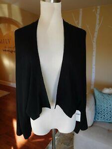 NWT~Darling Anthropologie Brand Black Kimono Sleeve Shrug Sweater M/L  $90.00