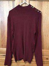 Lipsy Burgundy Wine Sweater Jumper Poloneck 10