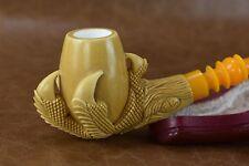TEKIN CLAW PIPE -new-block Meerschaum Handmade W Case#231
