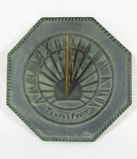Vtg Virginia Metalcrafters Tempus Fugit (Time Flies) Sundial W/ Scorpion Gnomon