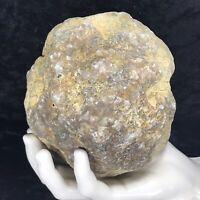 "5-1/2"" Large Geode Crystal Rattler Unopened Quartz Break Your Own Kentucky 3.2Lb"
