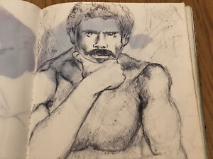 Male Nude Gay Interest 1980's San Francisco Artists Sketchbook Over 100 Pages