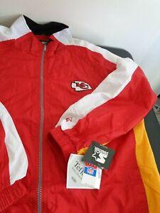 KANSAS CITY CHIEFS Football STARTER Windbreaker VINTAGE Jacket Size 2XL New NFL