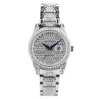 Croton Women's CN207598RHPV Quartz Honeycomb Dial Silver-Tone 31mm Watch