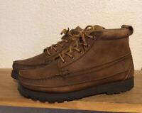 Men's Frye Phillip Lug Sz 8.5 Workboots Boots Chukka Camel Brown Leather Shoe