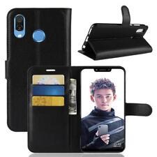 Funda para el Huawei Honor Play Libro Cover Wallet Case-s bolsa Negro