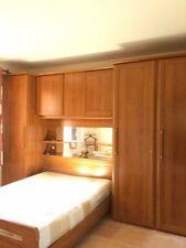 chambre pont couleur merisier - meuble 3 colonnes avec tiroirs - lit 140x190